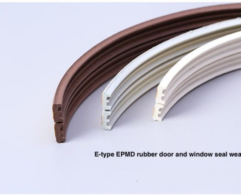 E type Door and Window EPDM Rubber Adhesive Sealing Strip Wardrobe Seals