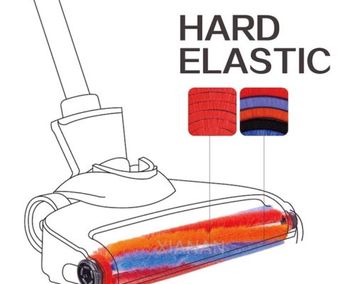 elastic electrical functional brush